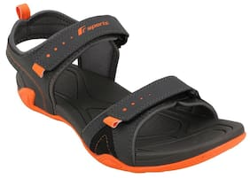 312b1305698a Fsports Men Black Sandals   Floaters
