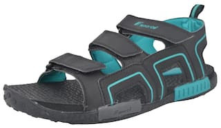 95d4d43d1a9f4 Buy Fsports Men RUSSELL Series Black and Blue Colour Sandals 6UK ...