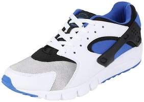 Fsports Men's Hawk Series White Royal Blue Synthetic Sports Shoes 8UK