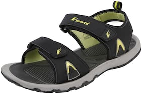 Fsports Mens Black and Green Colour ARROW Series Synthetic Casual Sandal 8UK