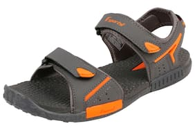 d706ac9cffa00 Fsports Mens Grey and Orange Colour FREQUENCY Series Synthetic Casual Sandal  7UK