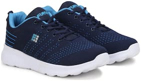 FUEL Men's Boys Fashionable Solid Laced Up Eva Sole Running Shoes (Blue)