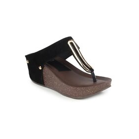 Funku Fashion Black Suede Wedges
