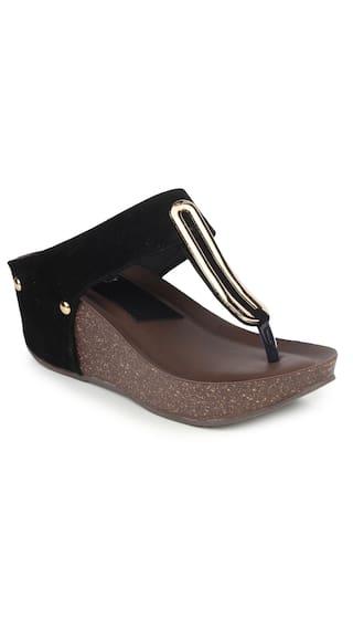 Funku Fashion Black Suede Wedges