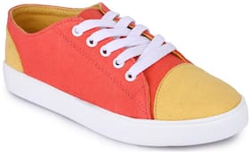 Funku Fashion Women Orange Casual Shoes