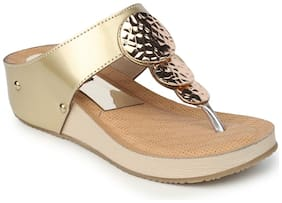 Funku Fashion Golden Wedges