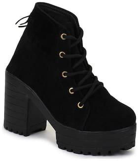 Funku Fashion Women Black Ankle length Boots