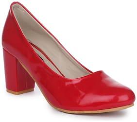 Funku Fashion Red Block Heels