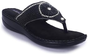 Funku Fashion Black Women Slippers