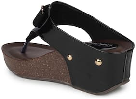 Funku Fashion Black Patent Wedges