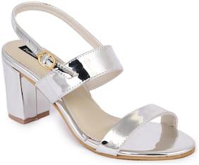 Funku Fashion Women Silver Pumps