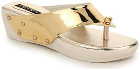 Funku Fashion Gold Wedges