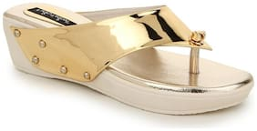 Funku Fashion Gold Wedges