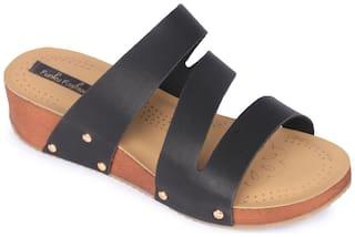 Funku Fashion Black Wedges Heels