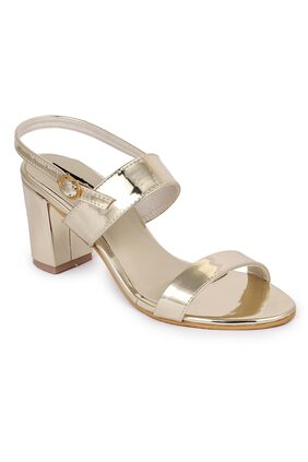 Funku Fashion Golden Block Heels