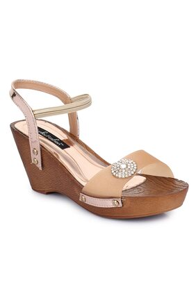 Funku Fashion Peach Wedges Wedges heels