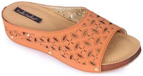 Funku Fashion Tan Wedges Heels