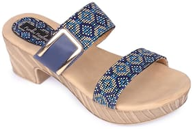 Funku Fashion Blue Block Heels