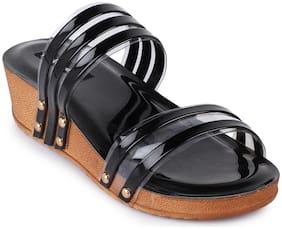 Funku Fashion Women Black Sandals