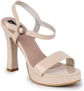 Funku Fashion Women Beige Heeled Sandals
