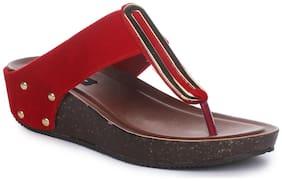 Funku Fashion Red Wedges Heels