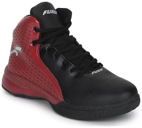 Furo By Red Chief Black/Red Basket Ball Sports Shoes For Men (B8000 C747)