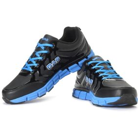 GAS Black Synthetic Leather Sport Shoes