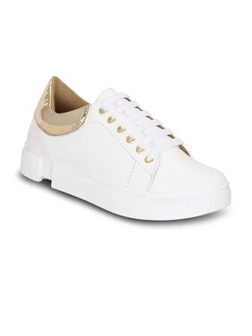 Get Glamr Women White Sneakers