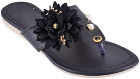 GERIEF Women Black Sandals