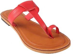 Gerief Women's Red Flat