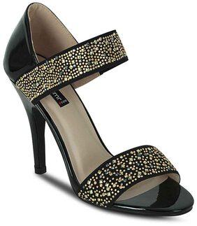 Get Glamr Women Black Sandals