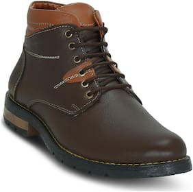Get Glamr Men Brown Ankle Boots