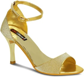 Get Glamr Women Gold Sandals
