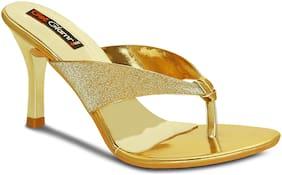 Get Glamr Women Gold Sandals