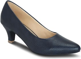 Get Glamr Women Navy Blue Pumps -