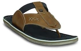 Get Glamr Men's Tan Flip Flops