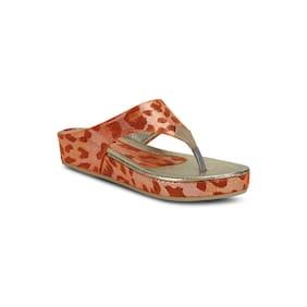 Get Glamr Orange Slippers