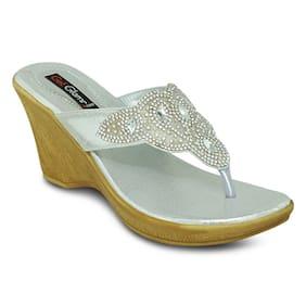 Get Glamr Silver Wedges