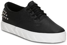 Get Glamr Women Black Sneakers