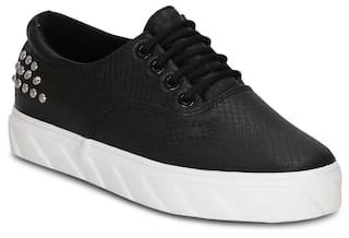 5ead92de216 Buy Get Glamr Women Black Sneakers Online at Low Prices in India ...