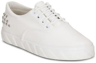 Get Glamr Women White Sneakers