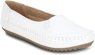 Get Glamr Women White Loafers