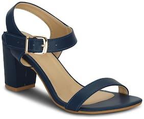 Get Glamr Women's Blue Sandals (GET(GET-4785)-5 UK