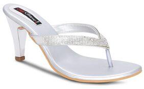Get Glamr Silver Heels