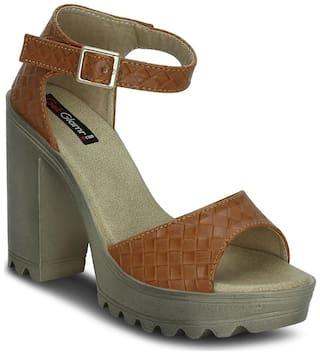Get Glamr Tan Heels