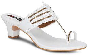 Get Glamr White Heels