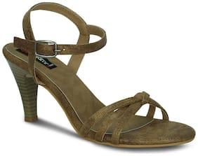 Get Glamr Brown Heels