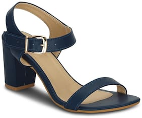 Get Glamr Women's Blue Sandals (GET(GET-4787)-7 UK