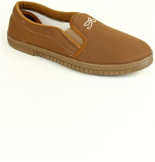 Liberty Men Tan Casual Shoes - JOGGING-E_DRILL_BEIGE