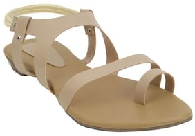 Glitzy Galz White Women Flat sandals